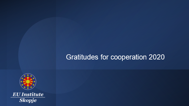 Gratitudes for cooperation 2020